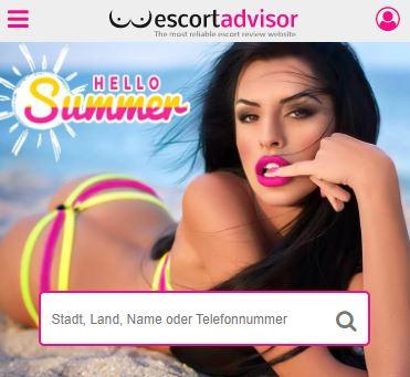 Escort Advisor Suchmaschine auf der Startseite