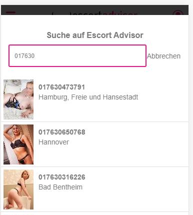 Escort Advisor Wie finde ich eine Telefonnummer Suche Schritt 4
